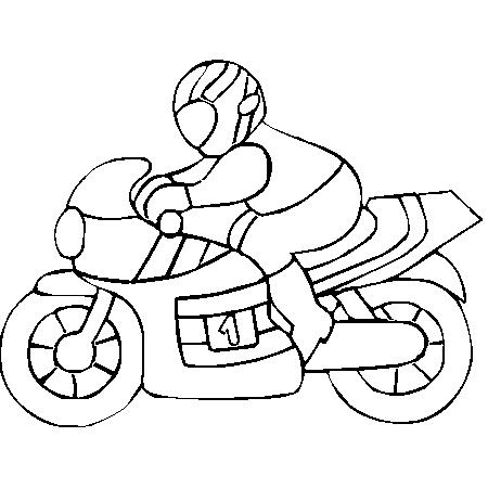 Coloriage moto facile - Comment dessiner une moto cross ...