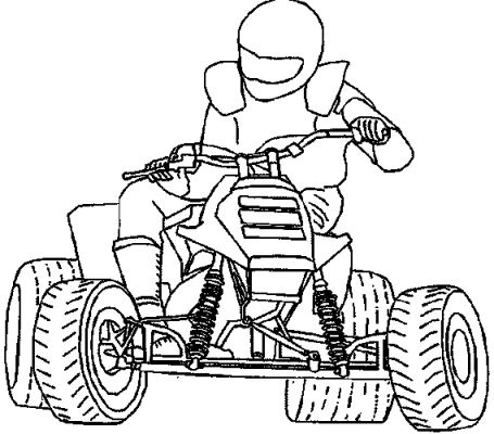 dessin à colorier moto maternelle