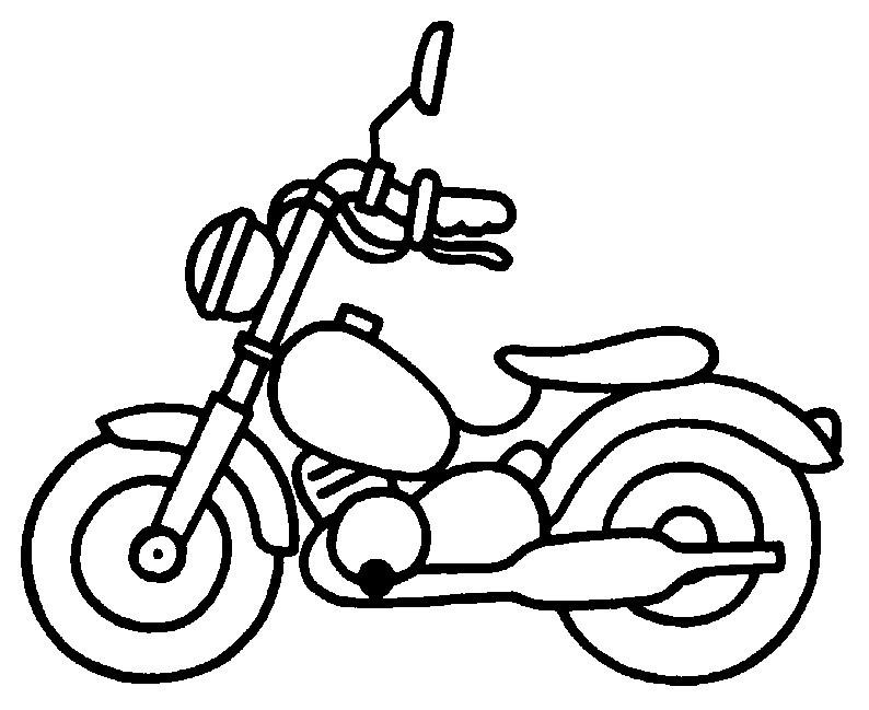 coloriage à dessiner moto 3 roues