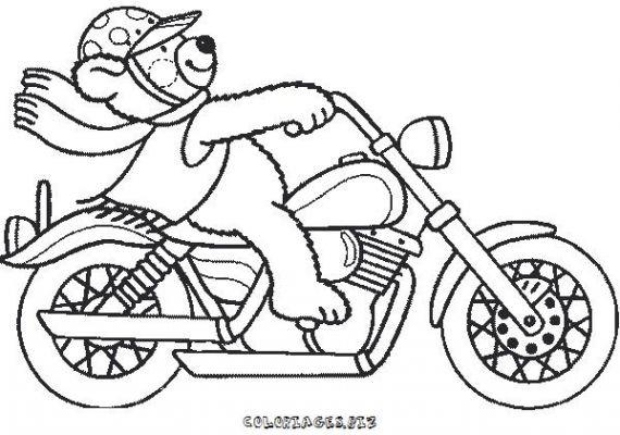 coloriage a dessiner mario et sa moto