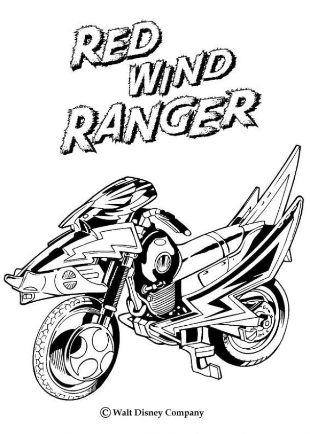 coloriage à dessiner moto honda