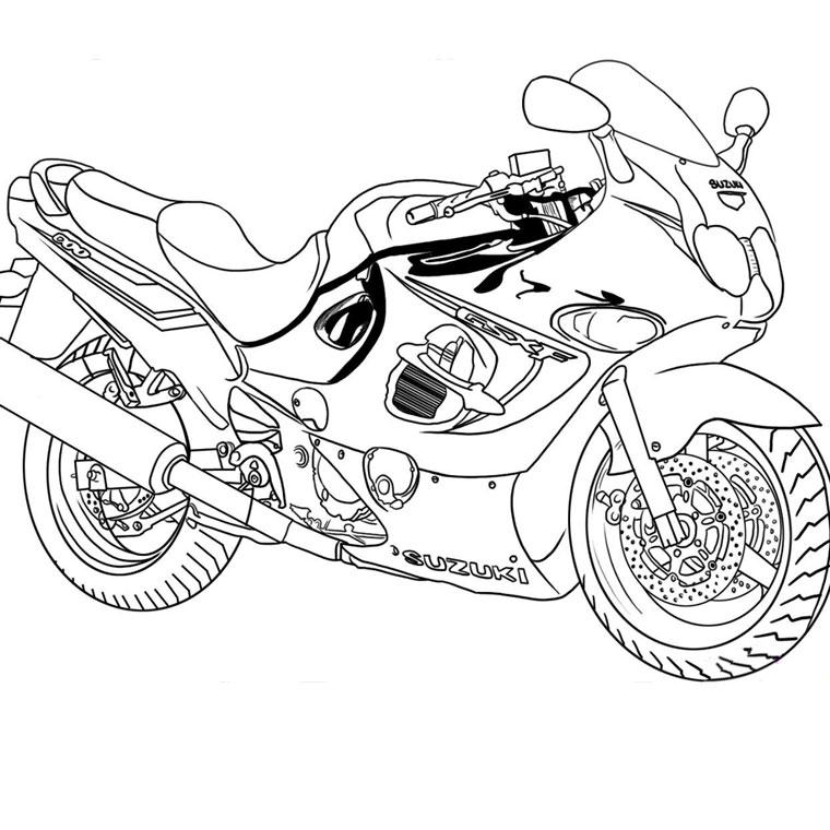 113 Dessins De Coloriage Moto à Imprimer