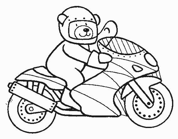 dessin à colorier de moto sur l'ordinateur
