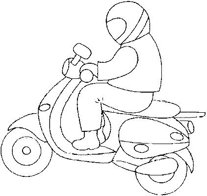 dessin à colorier moto route