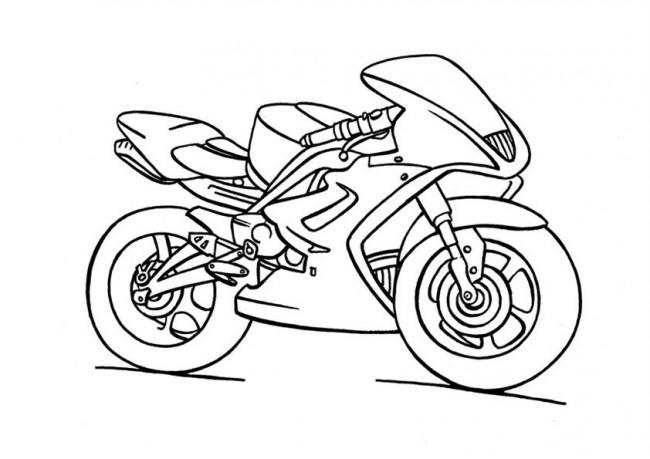 Coloriage dessiner en ligne moto de course - Coloriage moto de course a imprimer ...