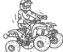 imprimer dessin à colorier moto course