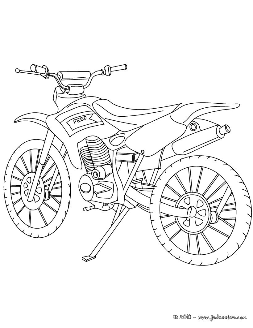 Un Dessin De Moto
