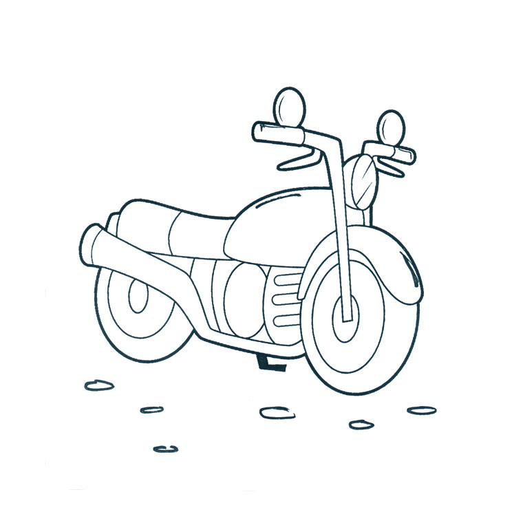 dessin à colorier moto imprimer gratuit