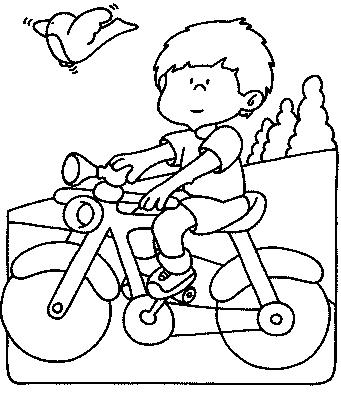 dessin à colorier moto imprimer