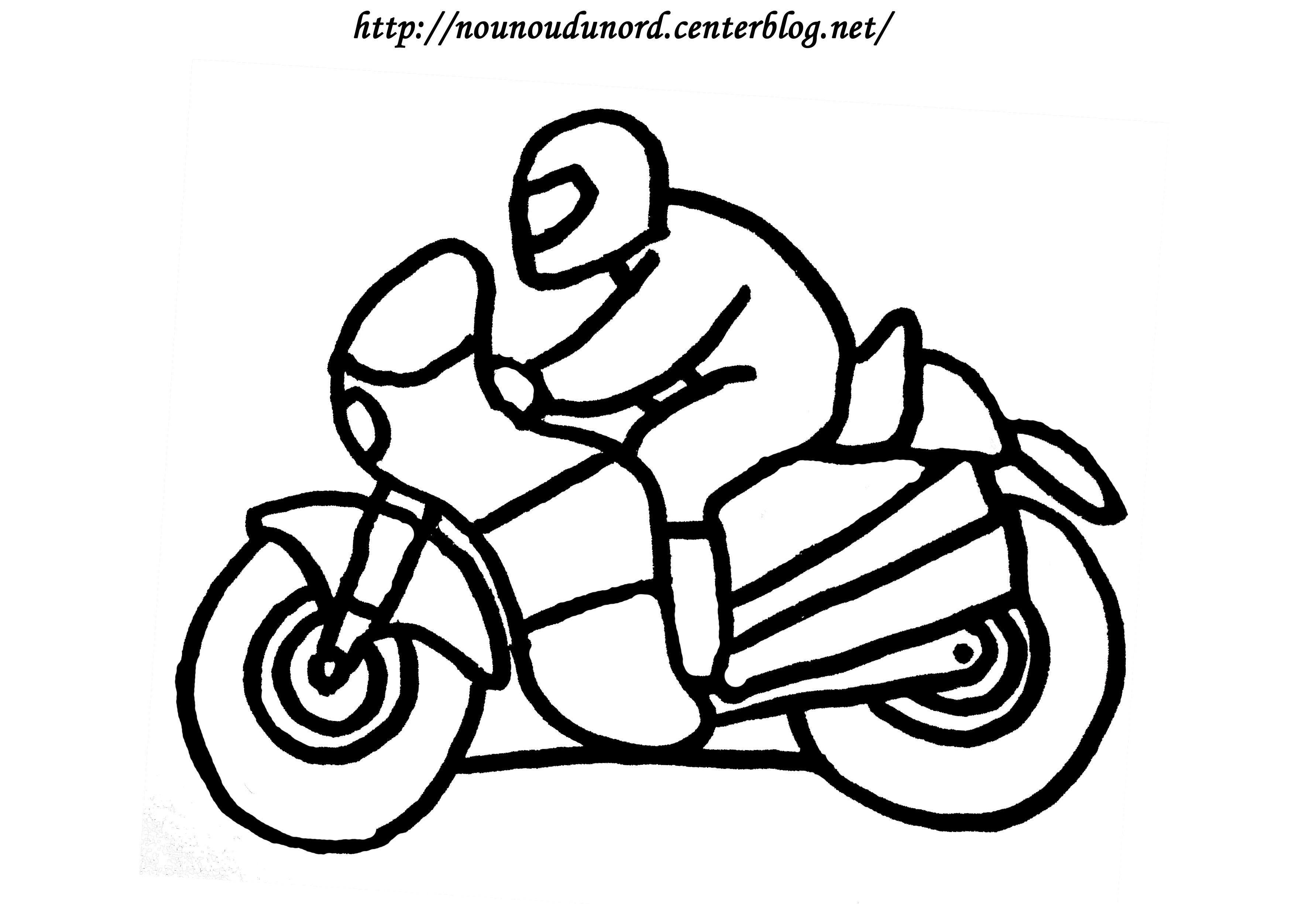 dessin simple moto