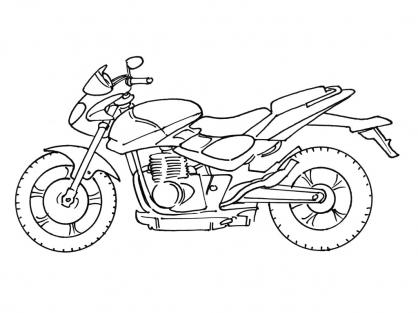 livre dessin à colorier moto