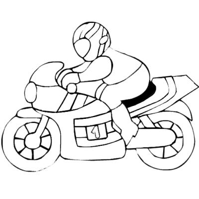 dessin à colorier moto playmobil