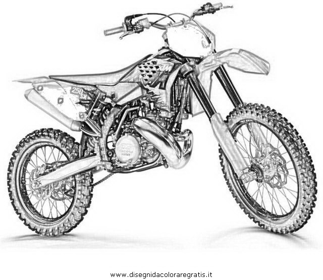 coloriage de moto cross a colorier en ligne