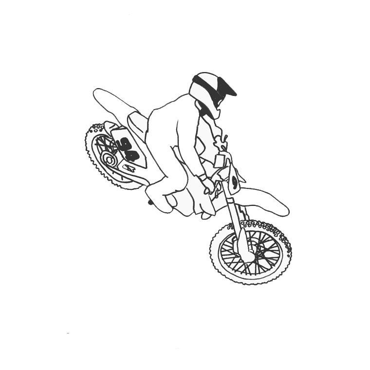 Coloriage De Moto Cross