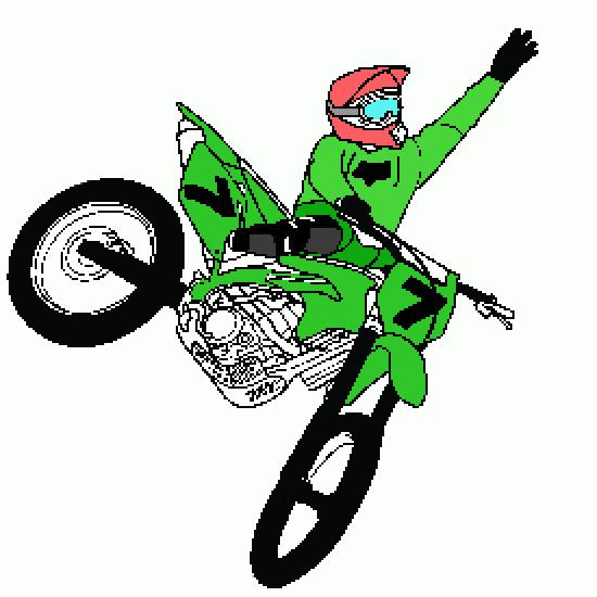 coloriage moto cross colorier