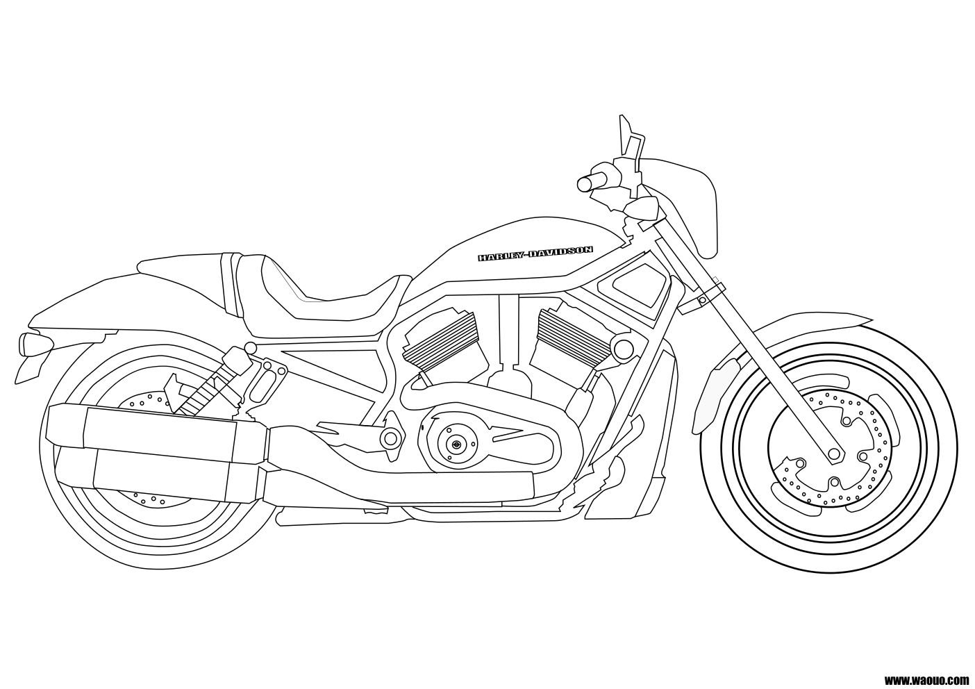 coloriage motocyclette