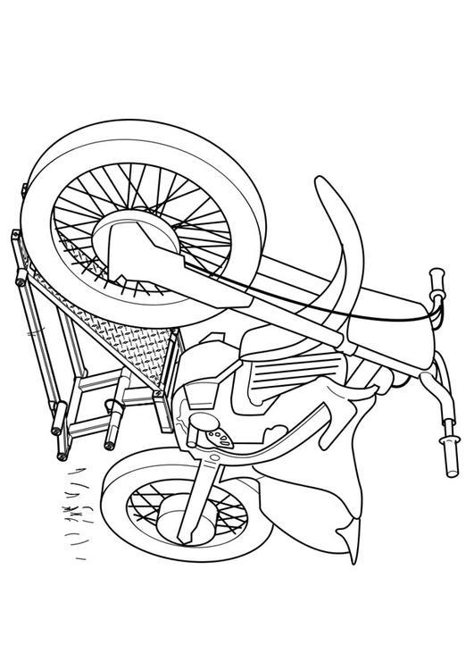 dessin � colorier motocyclette