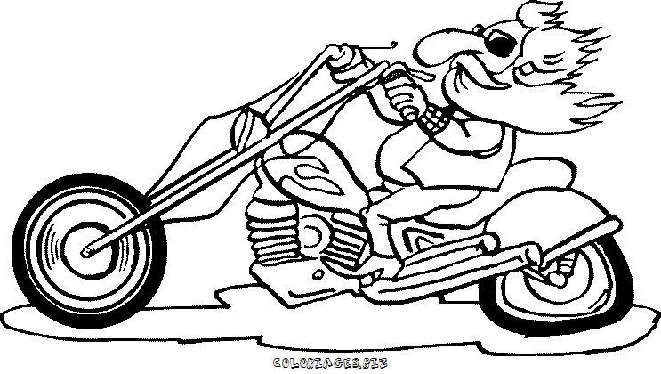 coloriage de moto 125