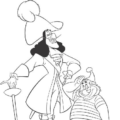 Coloriage dessiner capitaine crochet et mouche - Dessin de mouche ...