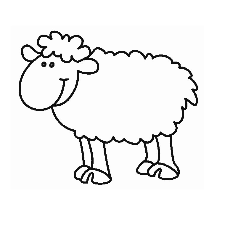 Coloriage Facile Mouton.Dessin Simple Mouton