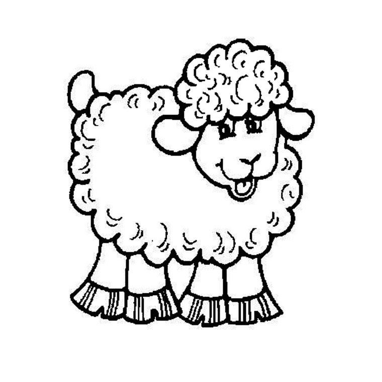 20 dessins de coloriage mouton gratuit imprimer - Dessin mouton rigolo ...