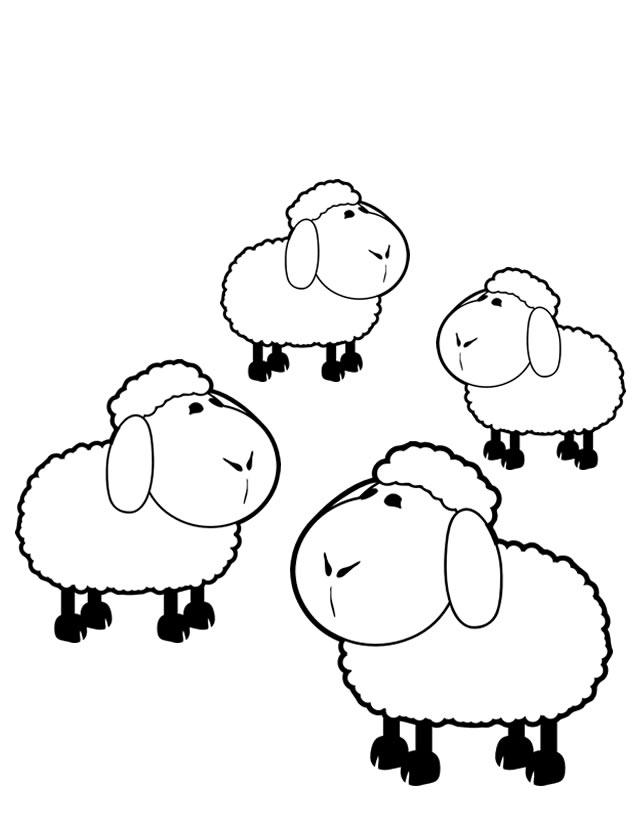 20 dessins de coloriage mouton imprimer gratuit imprimer - Mouton dessin ...