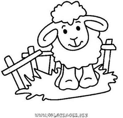 dessin à colorier shaun le mouton en ligne