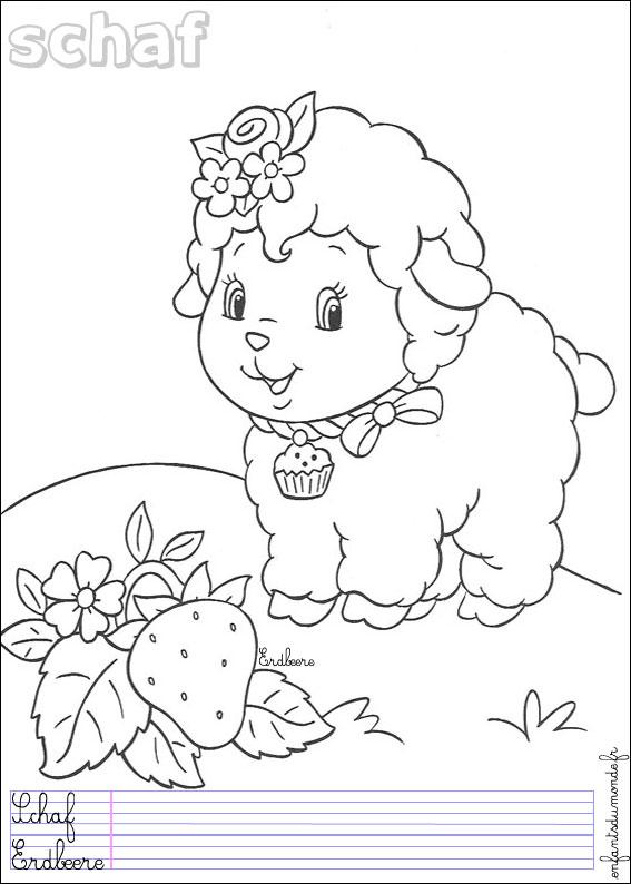 Coloriage mouton l 39 aid - Photo de mouton a imprimer ...