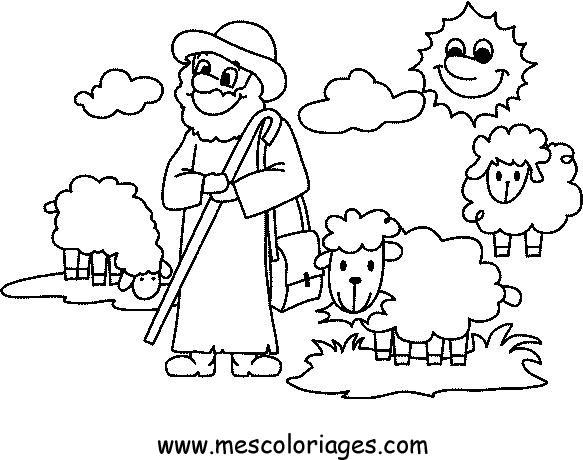 Dessin mouton et agneau - Coloriage agneau ...