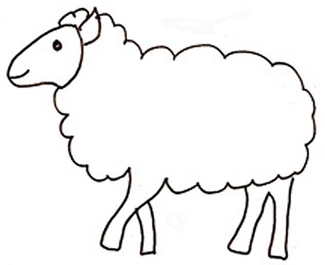 dessin à colorier magique mouton