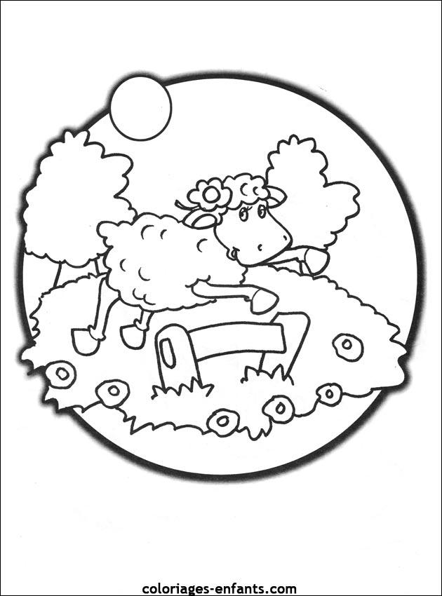 Coloriage mouton maternelle - Mouton a dessiner ...