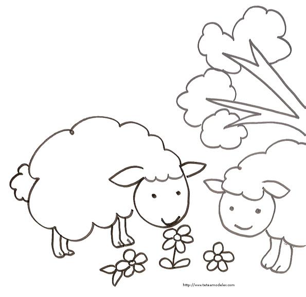 Coloriage mouton rigolo - Mouton en dessin ...