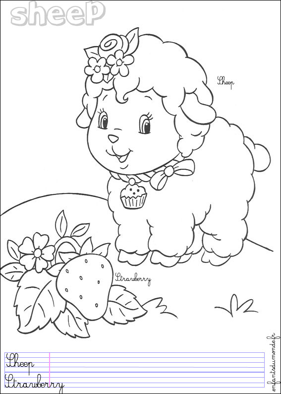 coloriage russell le mouton
