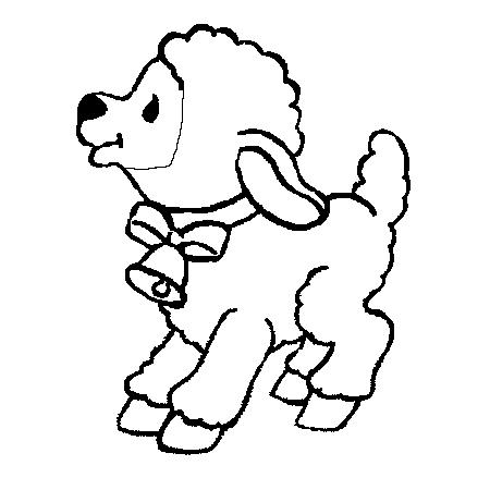 Coloriage dessiner mouton rigolo - Mouton a dessiner ...