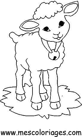Dessin colorier mouton avec cornes - Dessin tete de mouton ...