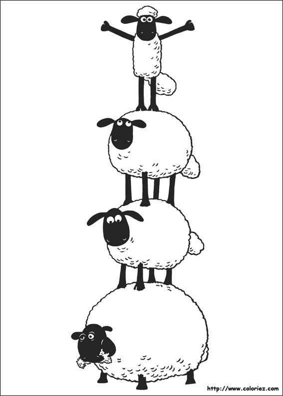 Coloriage mouton colorier dessin imprimer - Dessin mouton rigolo ...