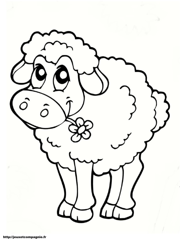 Coloriage dessiner mouton imprimer - Mouton a dessiner ...