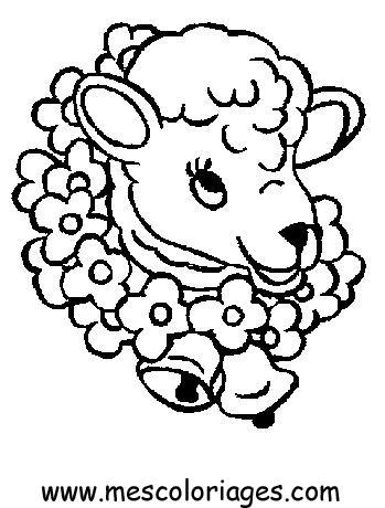 Dessin gratuit mouton imprimer - Dessin mouton rigolo ...