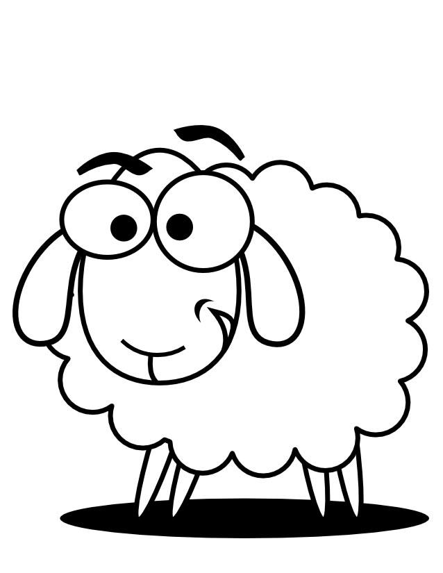 coloriage mouton shaun