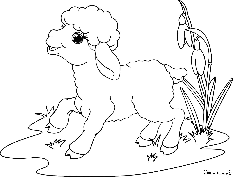 coloriage à dessiner mouton shaun