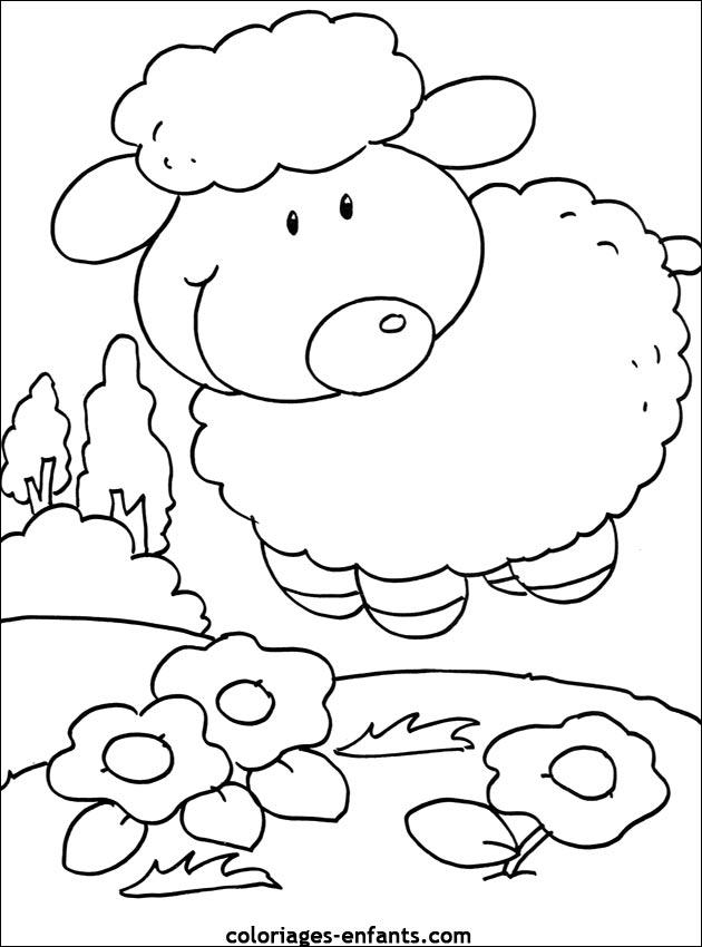Coloriage shaun le mouton en ligne - Dessin enfant a imprimer ...