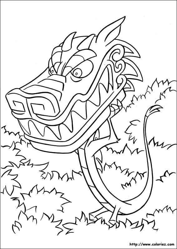 20 Dessins De Coloriage Mulan Mushu 224 Imprimer