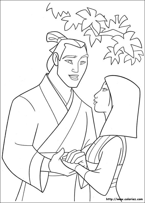 Coloriage De Mulan En Ligne
