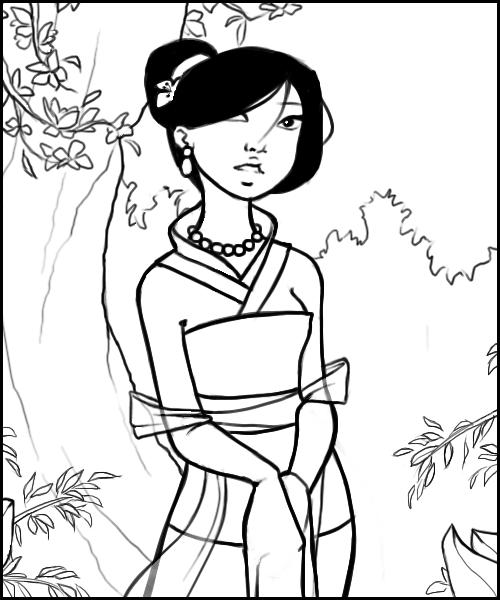 coloriage � dessiner mulan 2