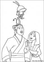 coloriage à dessiner à imprimer mulan