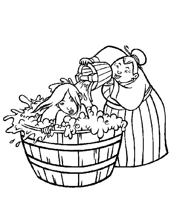jeux de dessin à colorier mulan