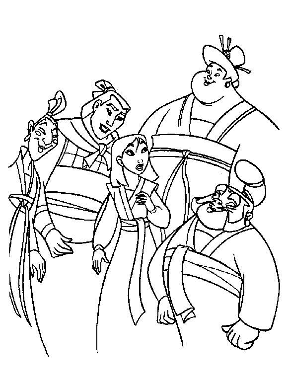 coloriage à dessiner mulan imprimer gratuit