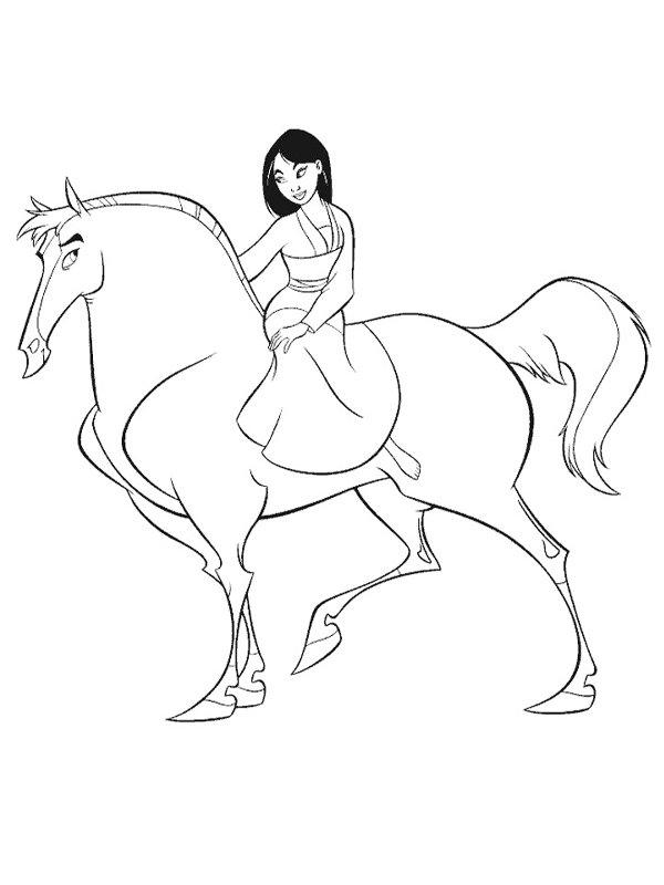dessin à colorier de mulan