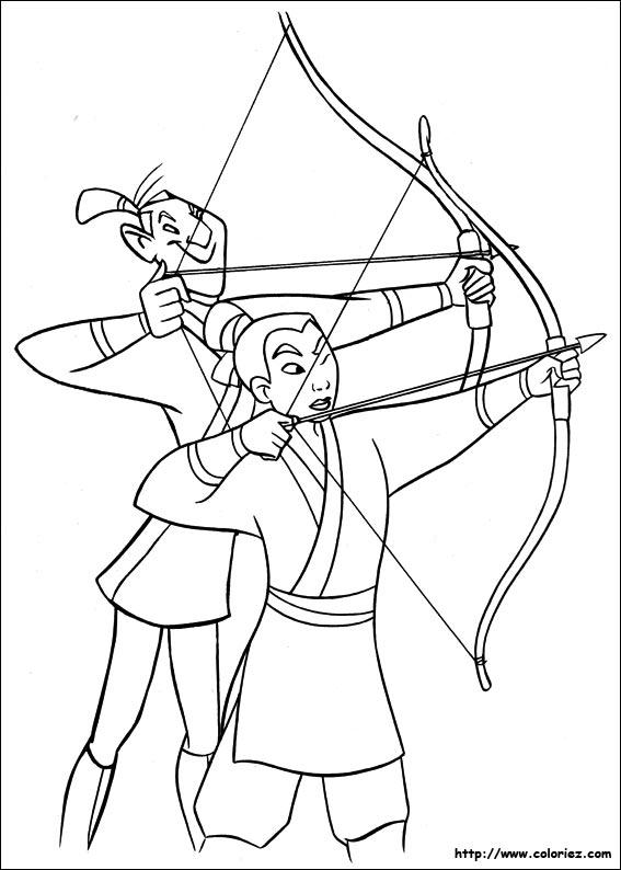 dessin mulan mushu