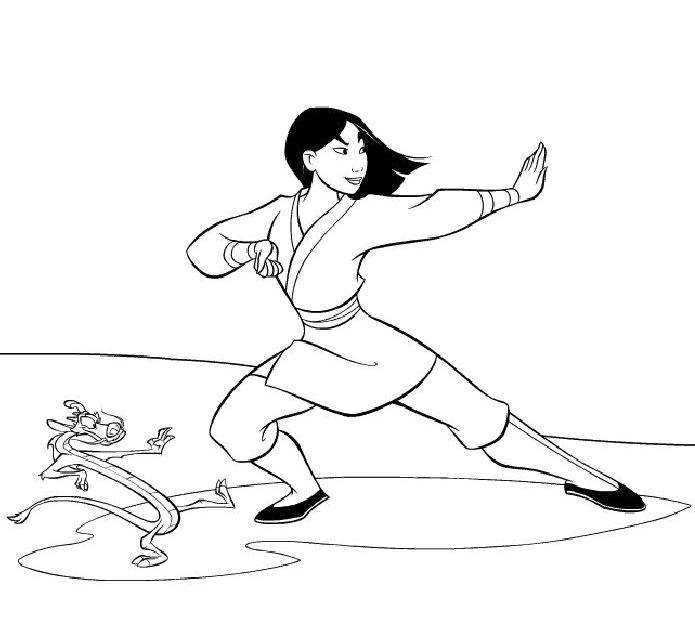 dessin princesse mulan